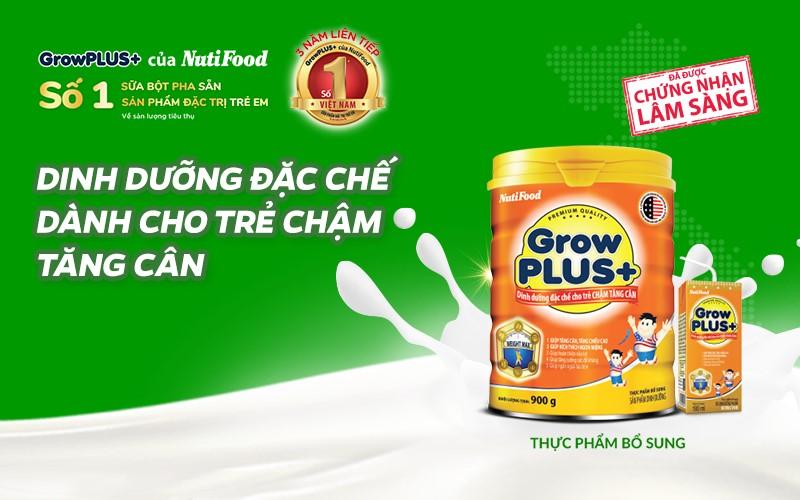 Sữa GrowPlus Cam dinh dưỡng đặc chế cho trẻ chậm tăng cân