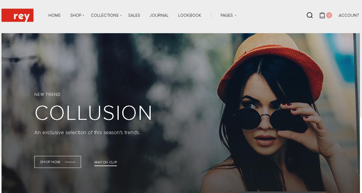 Wordpress ecommerce theme Rey