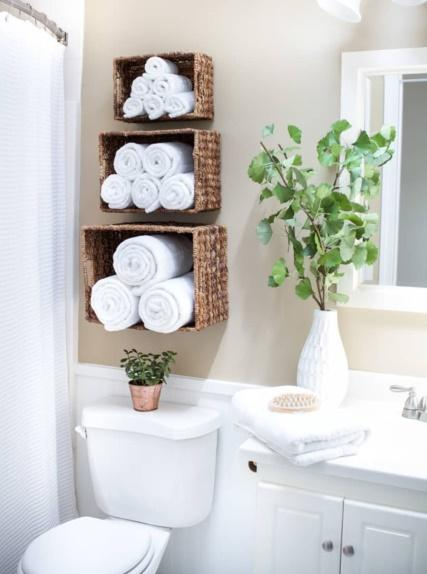 wall basket storage