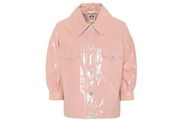Shrimps Faux Patent Leather Blouson Jacket from MyTheresa
