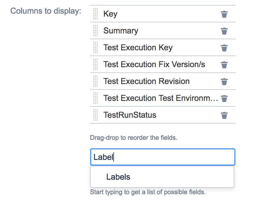Screenshot of editable columns