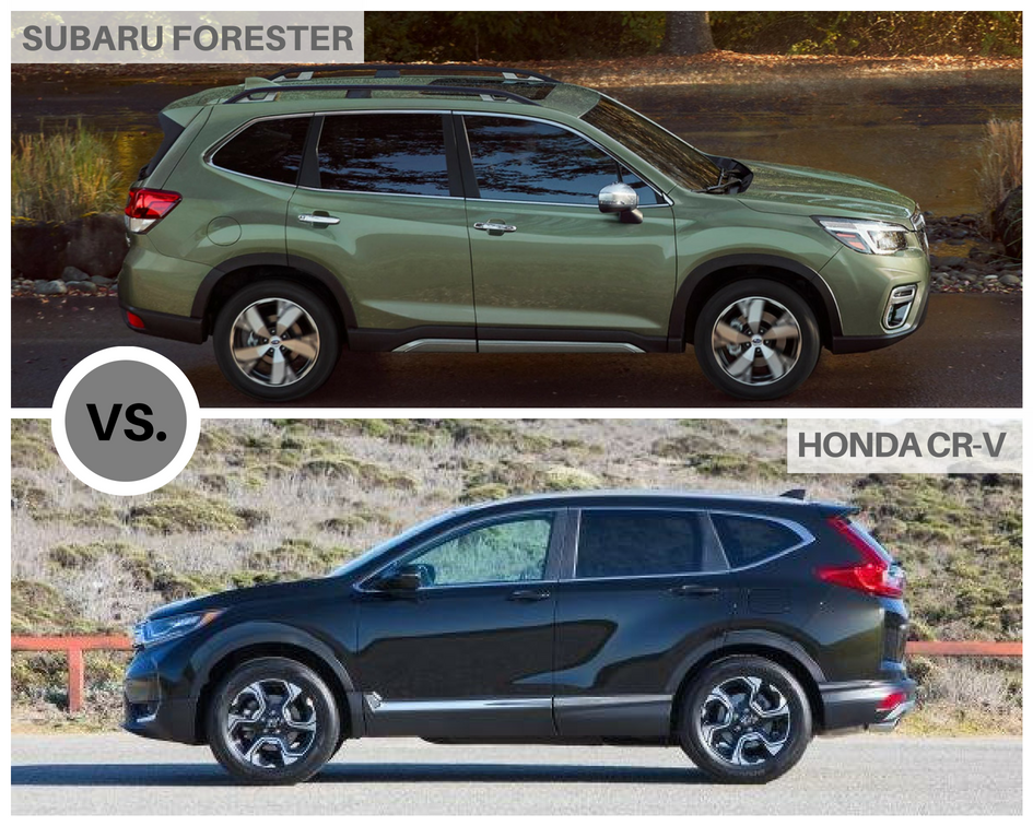 2019 Subaru Forester Vs Honda Cr V Adventure Subaru