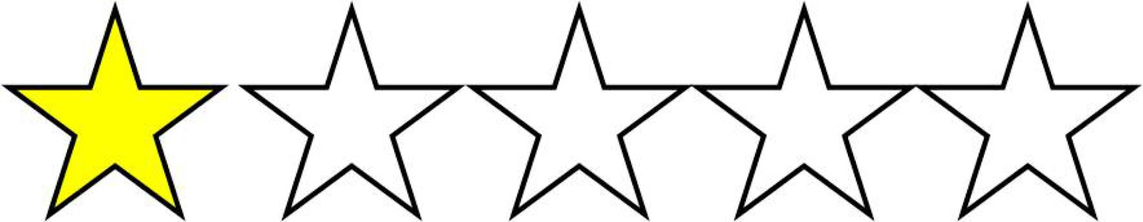 Image result for 1 out of 5 stars clipart