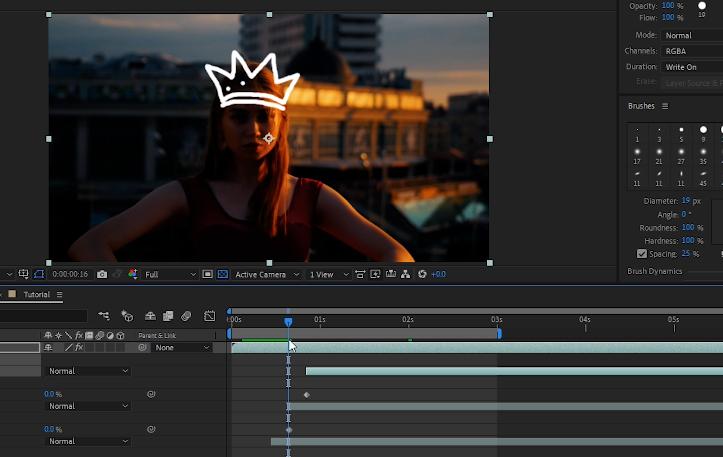 Crown animation on illustrated footage