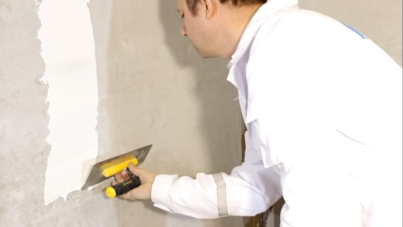 Как выровнять стену шпаклевкой Кнауф