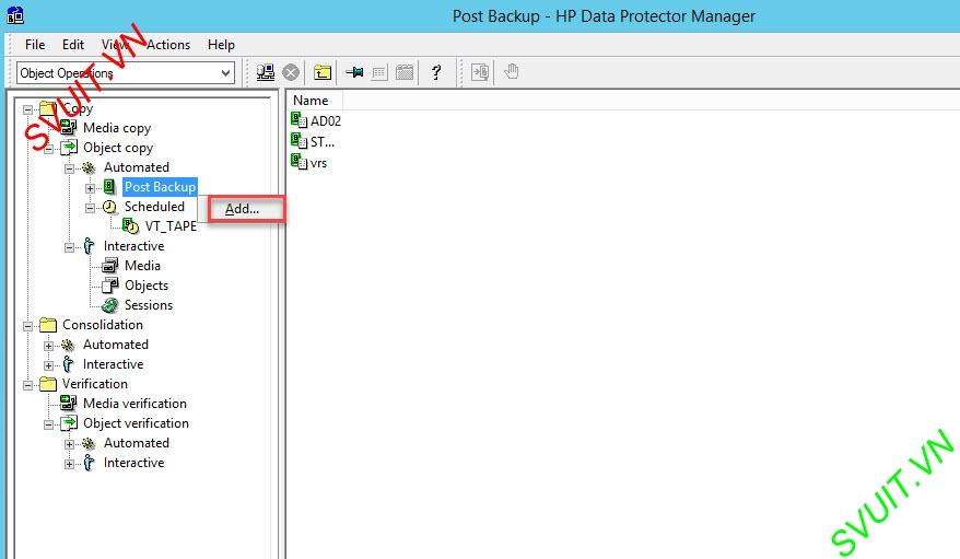 configure Object Copy Session - HP Data Protector (2)