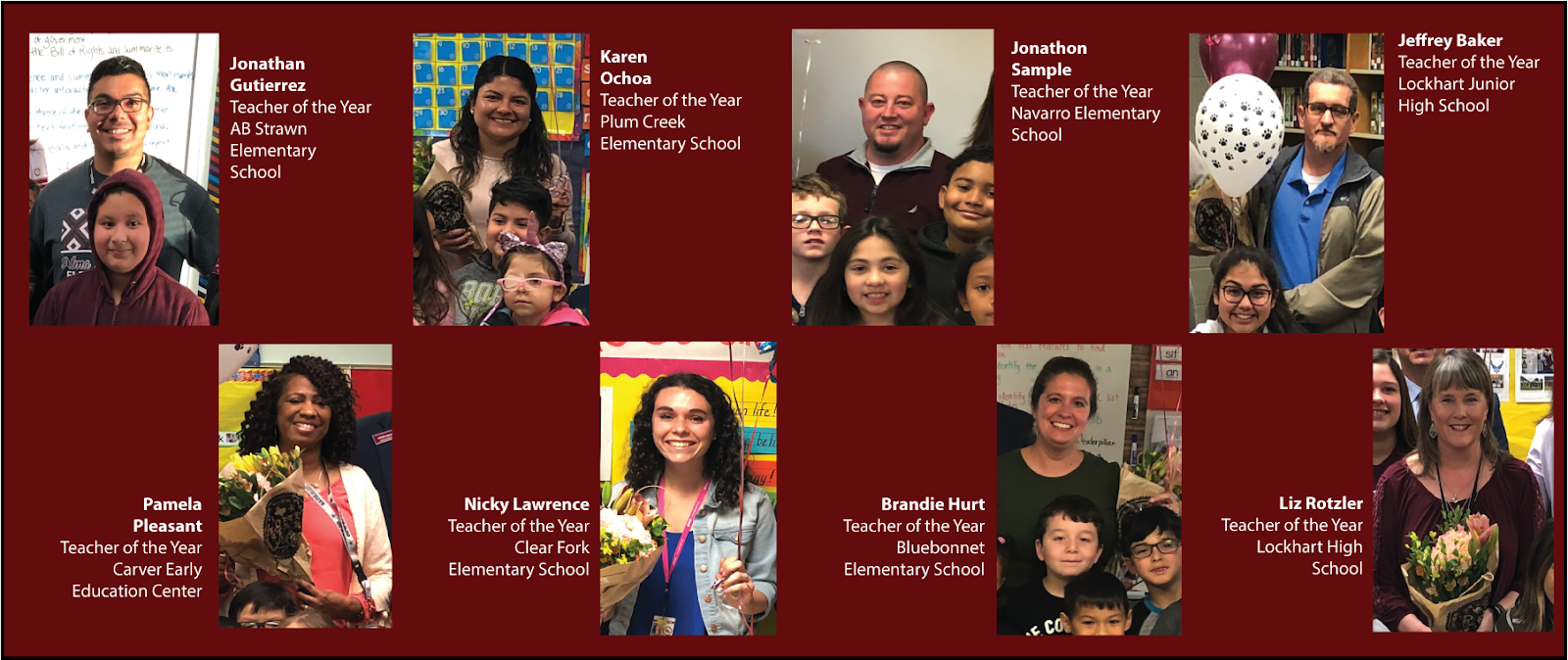 2019 Teachers of the Year Banner