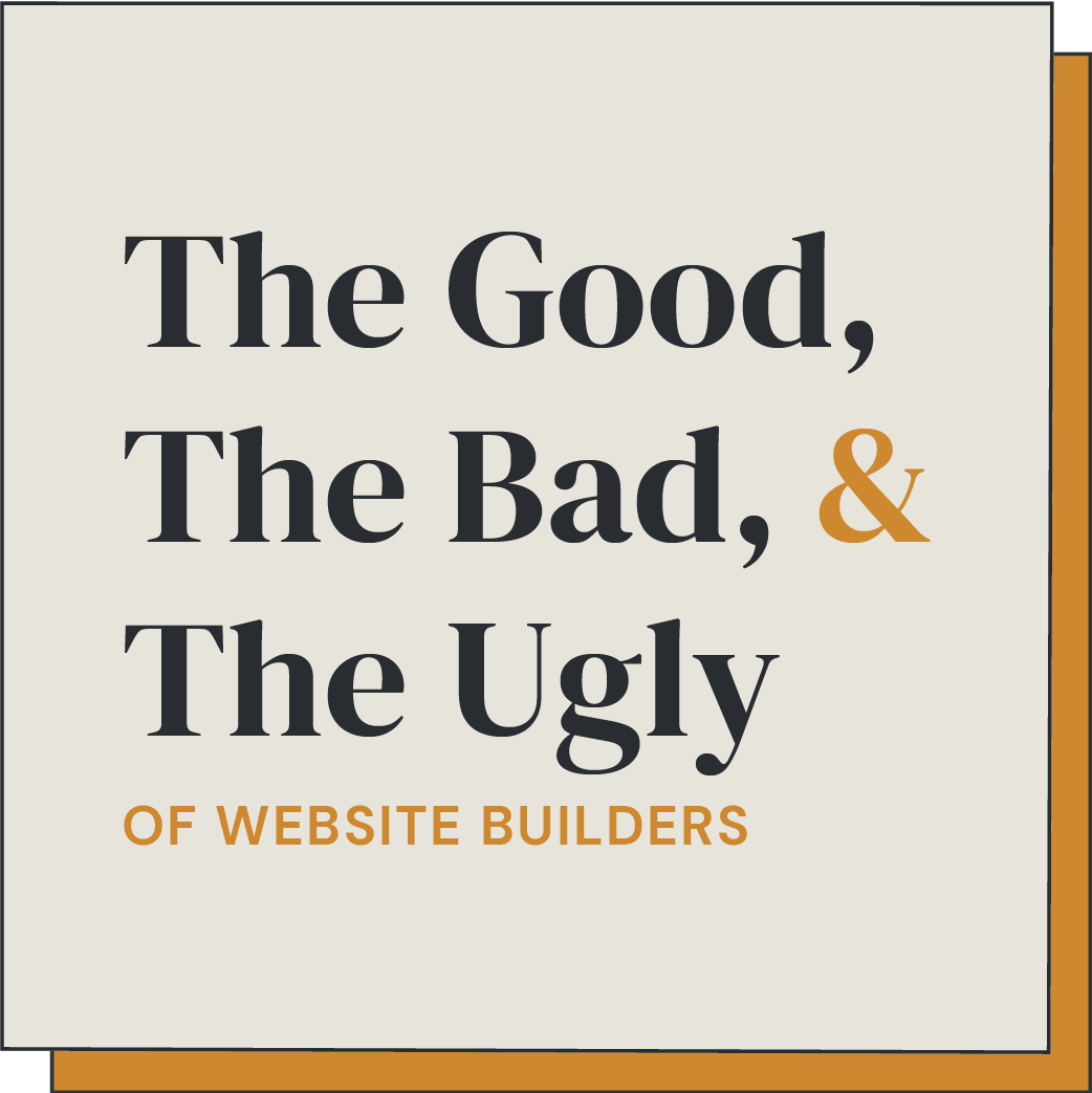 good and bad of website builders