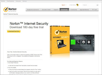 free norton internet security subscription