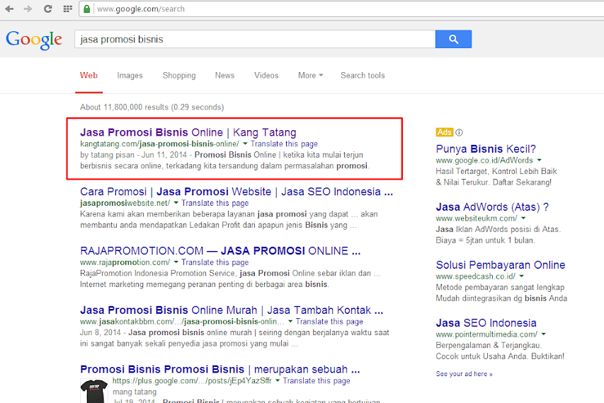 Jasa Promosi Website