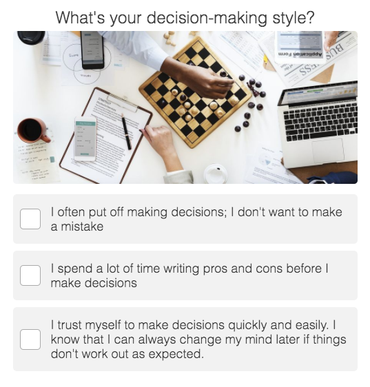 decision-making style question