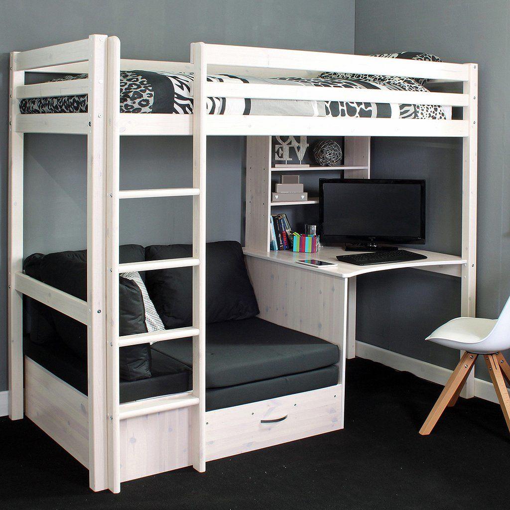 Mẫu giường tầng kết hợp bàn làm việc