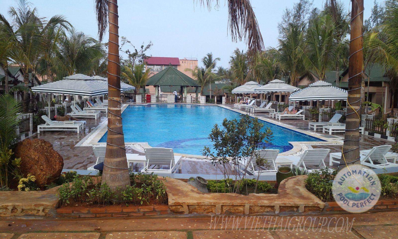 thi công hồ bơi khu nghỉ dưỡng