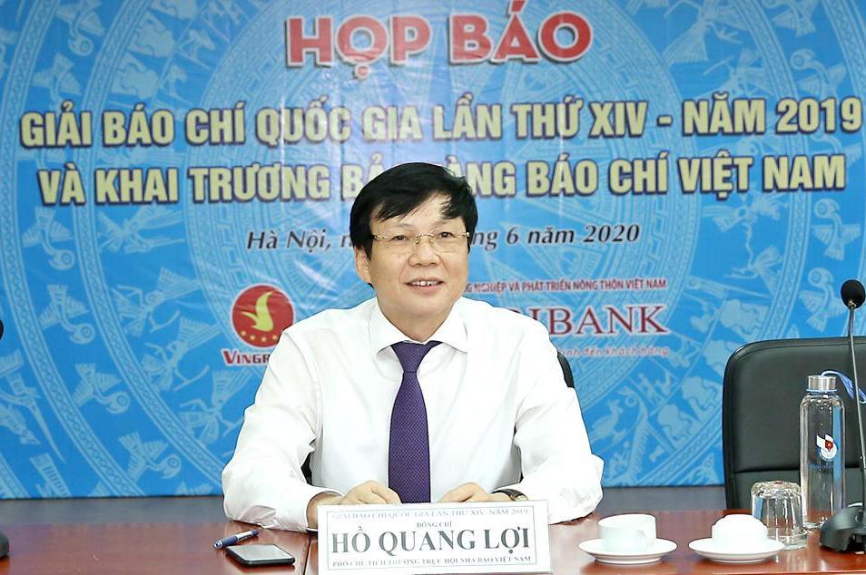Phó Chủ tịch Thường trực Hội Nhà báo Việt Nam Hồ Quang Lợi. Ảnh: Sơn Hải