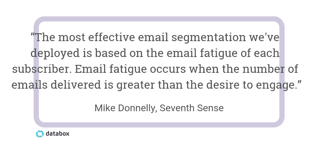 Segmenting by Subscriber Email Data