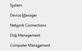 Device Manager valid ip configuration