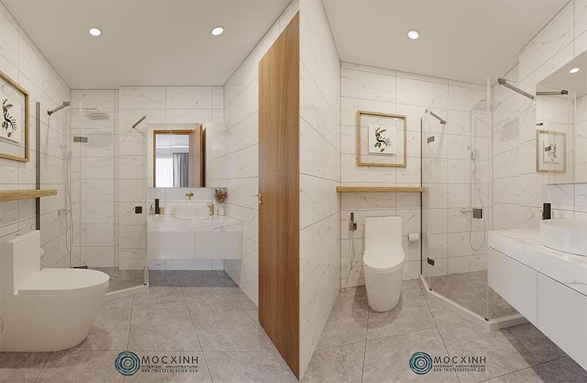 Thiết kế không gian nhà tắm sang trọng
