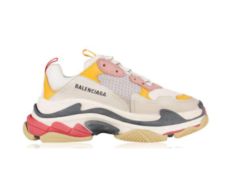 Giày Balenciga Triple S Pink Yellow Plus Factory