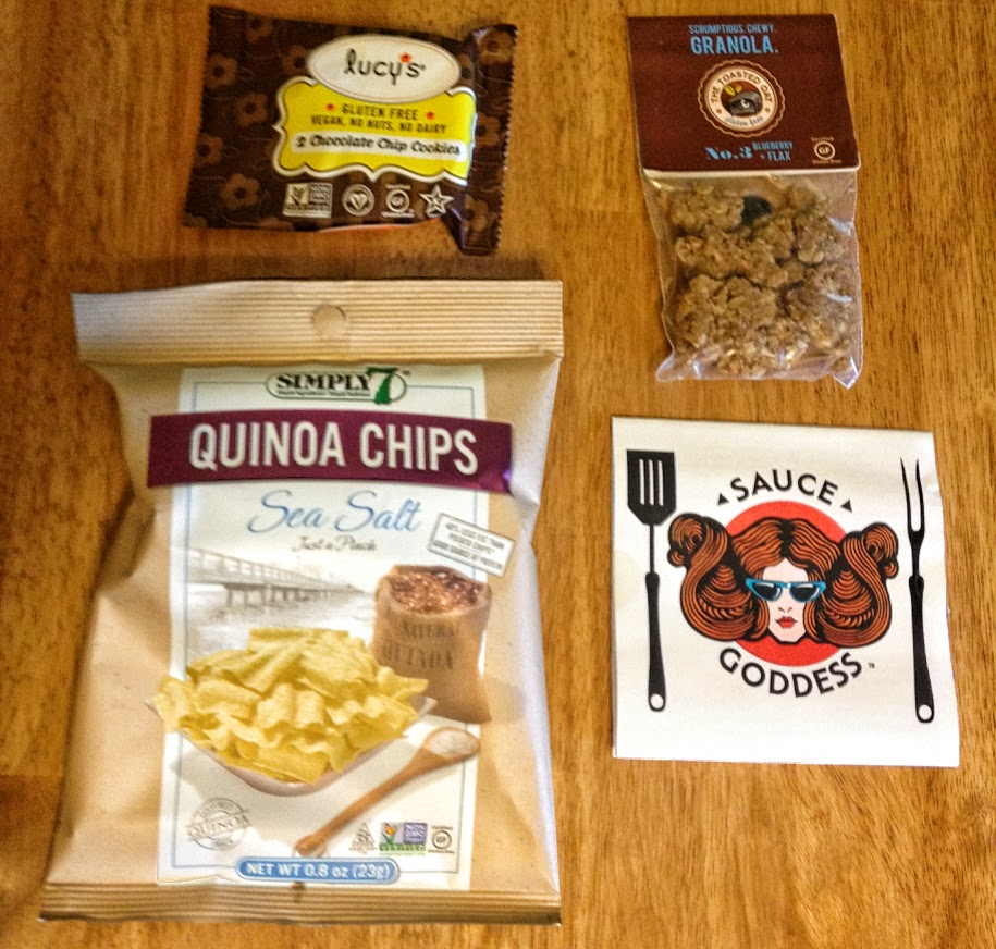 December Send Me Gluten Free box contents