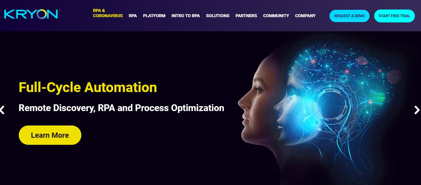 Kryon is one of the Robotic Process Automation Software