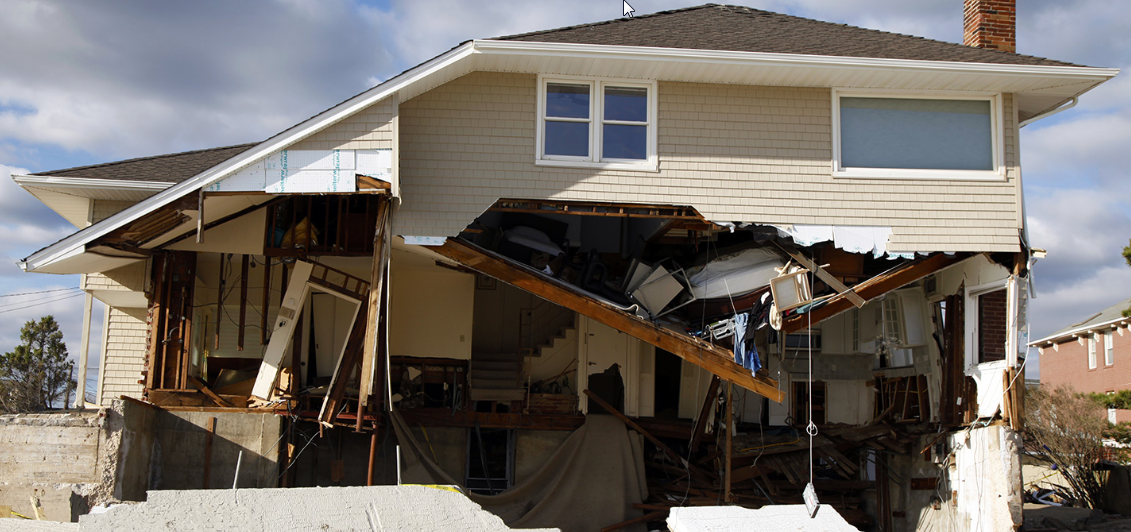 storm damage to a home