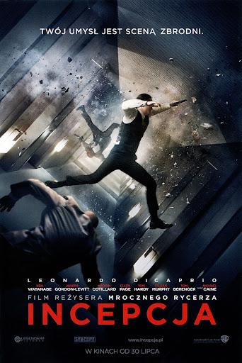 Przód ulotki filmu 'Incepcja'