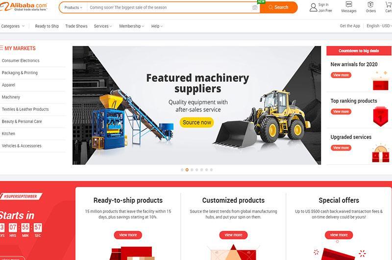 alibaba là website chuyên bán buôn, bán sỉ hàng nội địa trung quốc cho người nước ngoài, đây cũng là web thuộc tập đoàn alibaba
