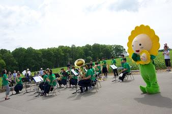 北竜中学校吹奏楽部演奏:ひまわり咲ちゃんと