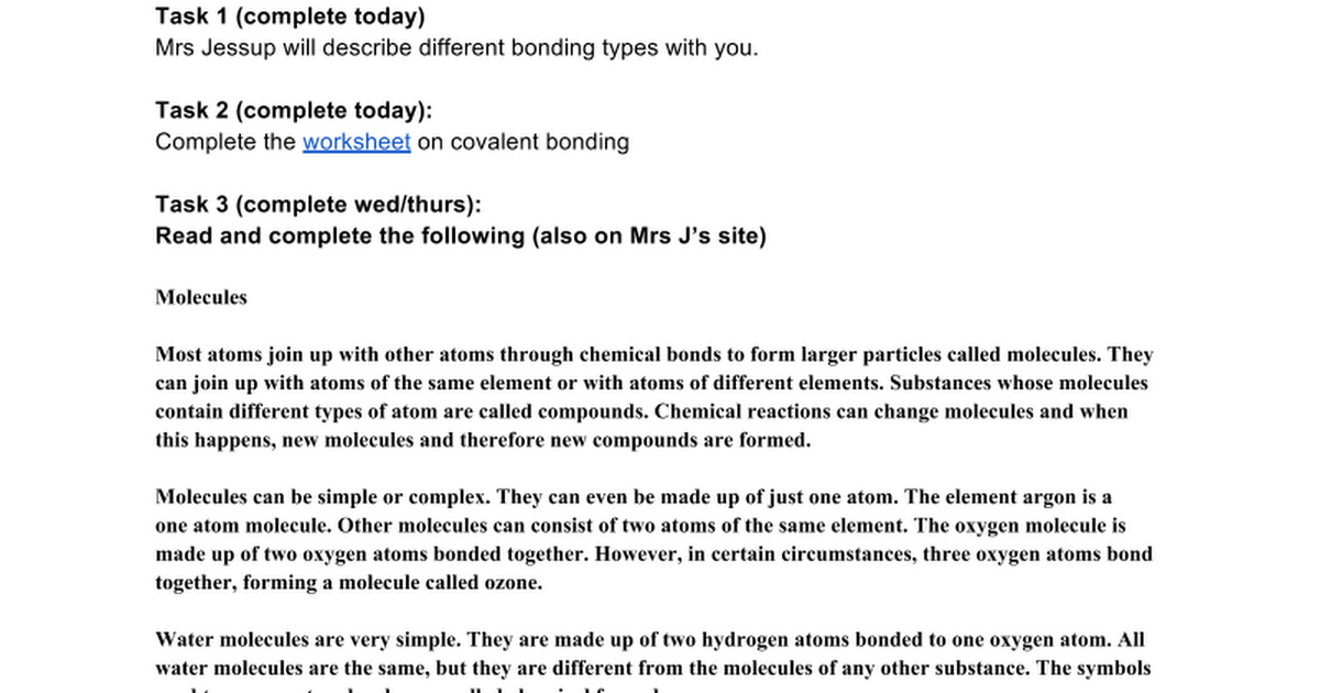 L5 Covalent Bonding Google Docs