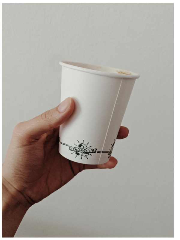 recyclable takeaway coffee cup