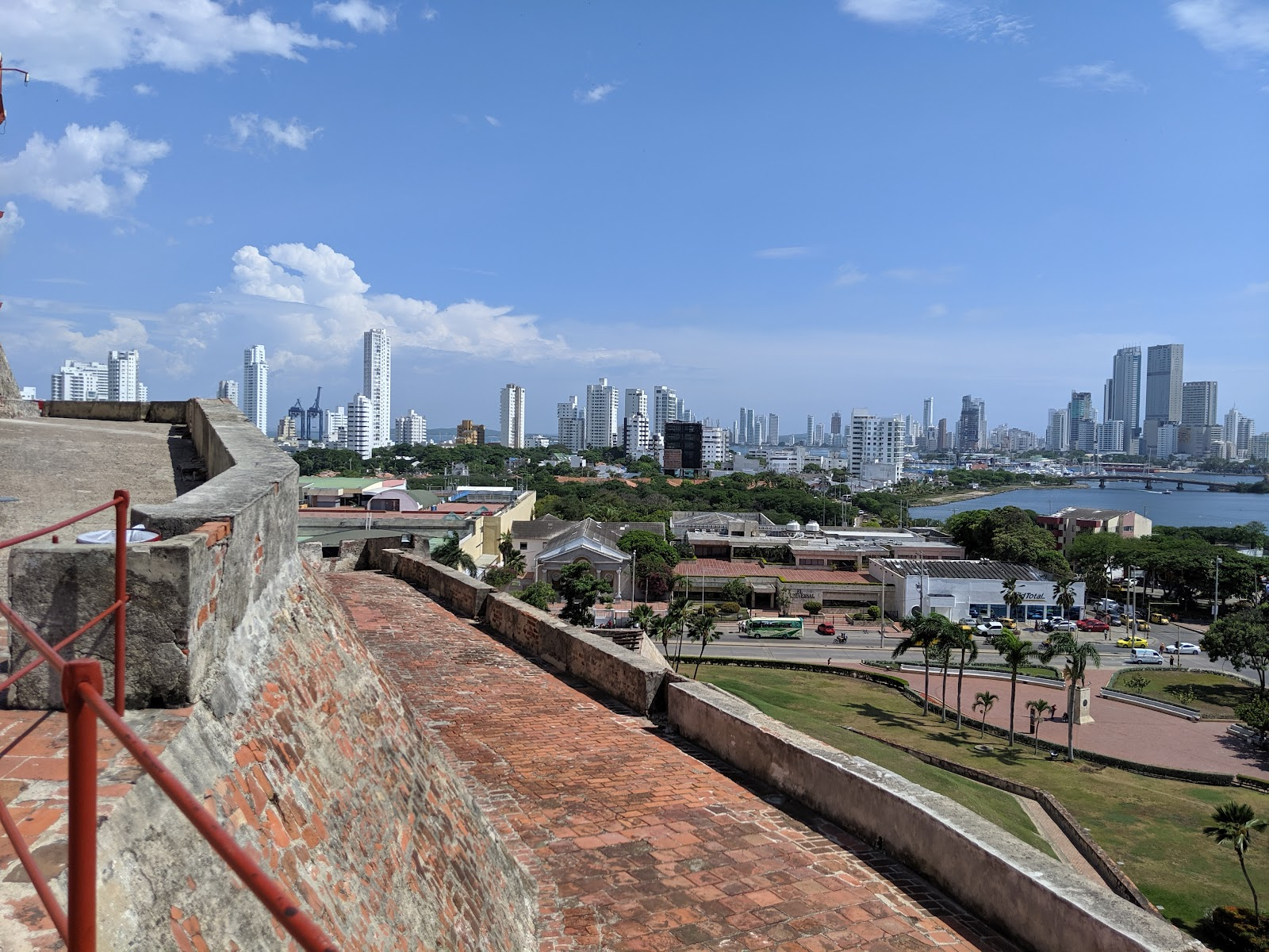Castillo de San Felipe in Cartagena, Colombia.