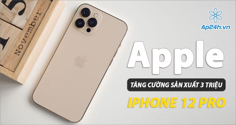 Apple tăng cường sản xuất iPhone 12 Pro trong Quý 1 năm 2021