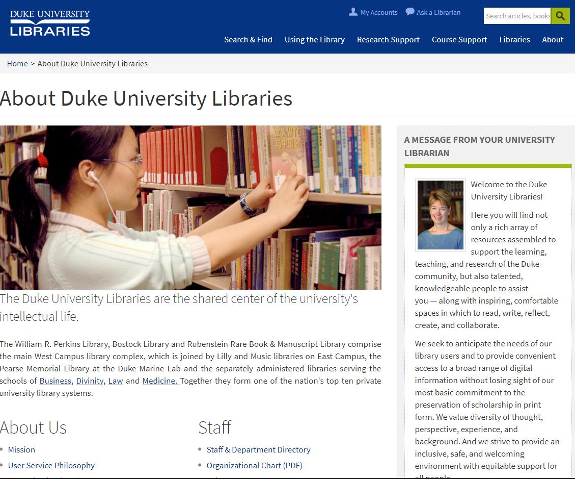 About Duke University Libraries