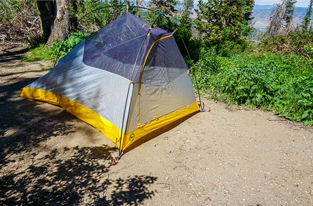 Fly Creek HV UL2 Bikepack Tent in the forest with Fly Removed
