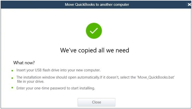 Move QuickBooks to a new computer - Screenshot 3