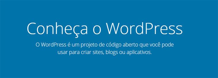 texto publicitário convivando a conhecer o wordpress