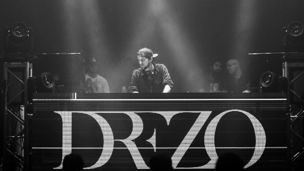 Drezo performing on stage