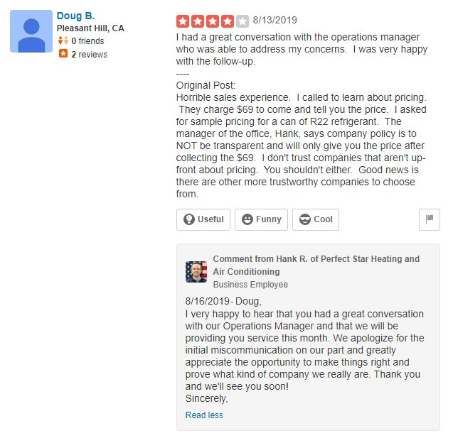 How to respond to clients' reviews