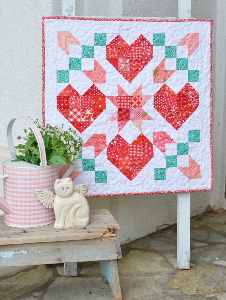 Star Crossed Love wall quilt pattern