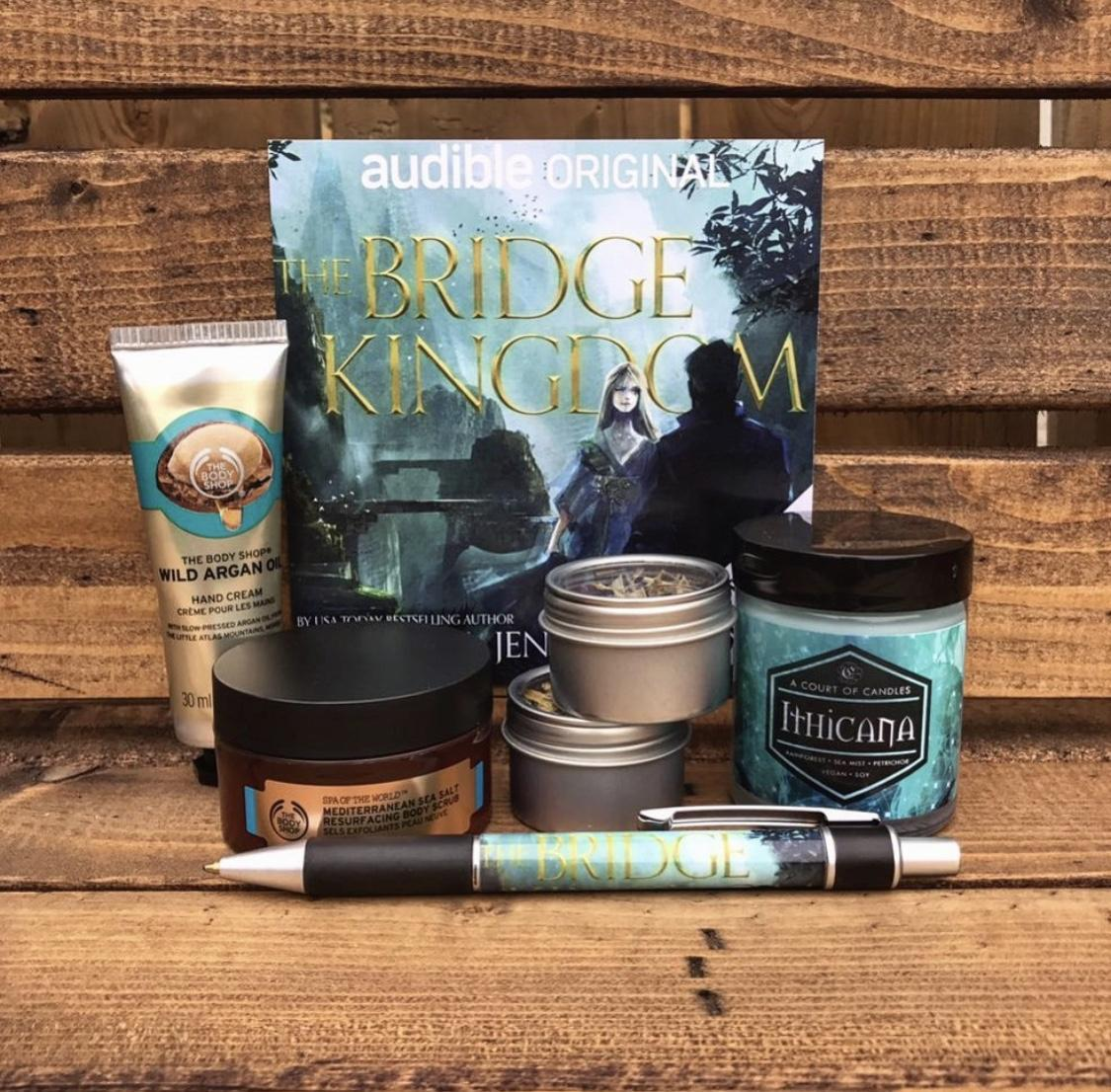 Epic The Bridge Kingdom–themed goody box.