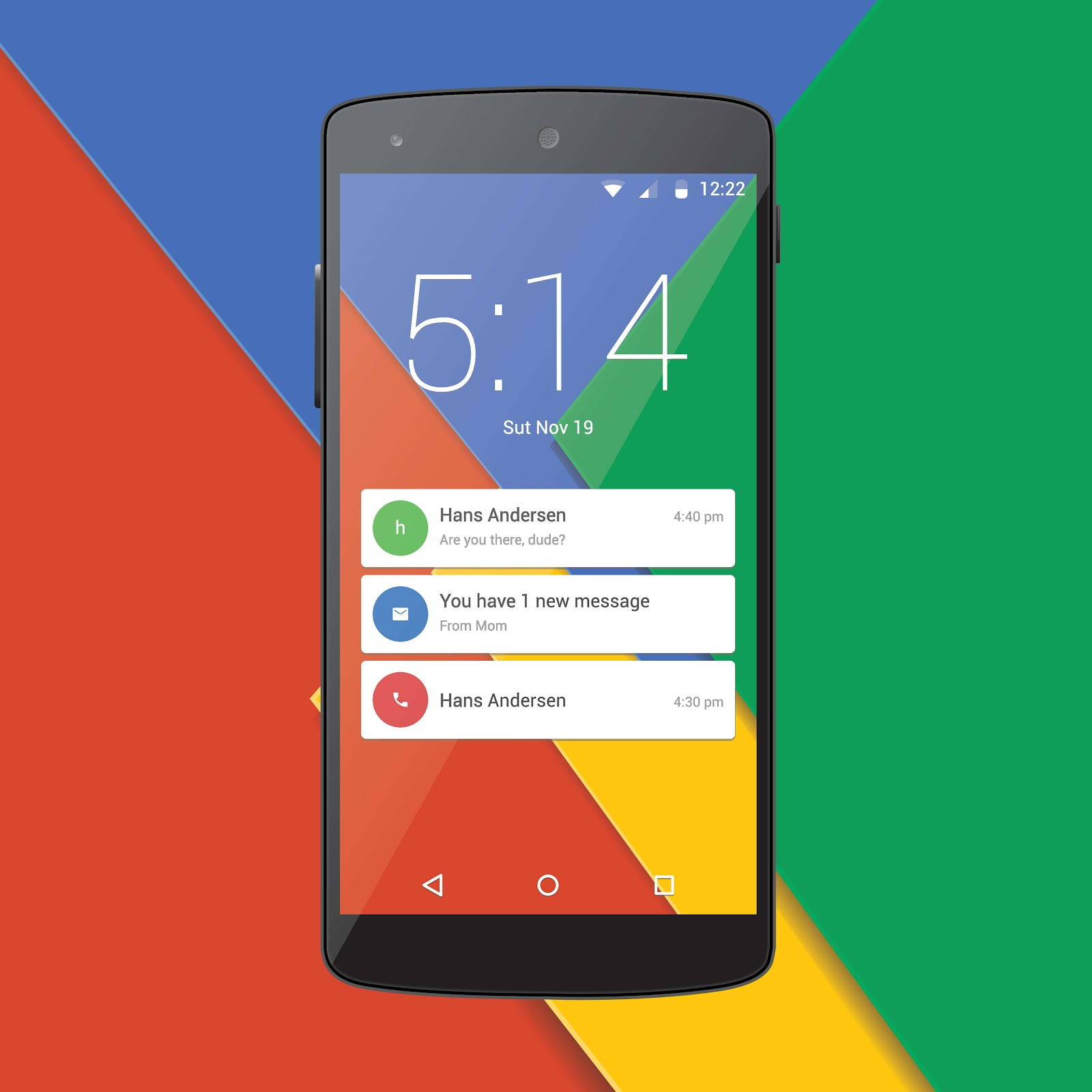 Google Android phone system built using Java