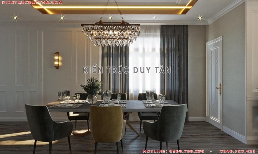 Nội thất phong cách tân cổ điển trong thiết kế phòng ăn – bếp view 2