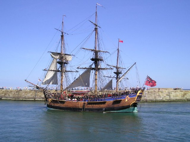 The replica of HMS Endeavour