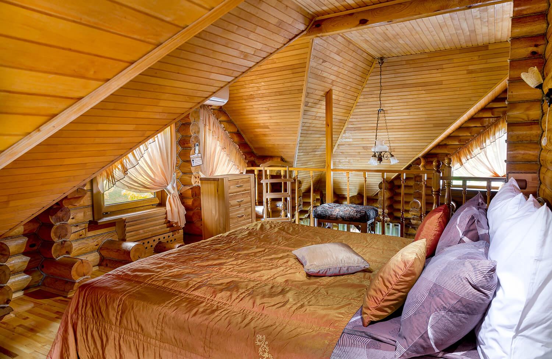 Спальня на втором этаже в номере Полулюкс