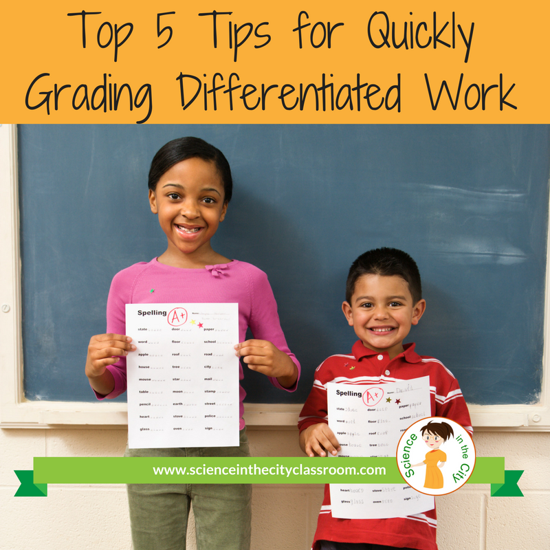 Tips, strategies, and reflective thoughts about grading in a differentiated classroom