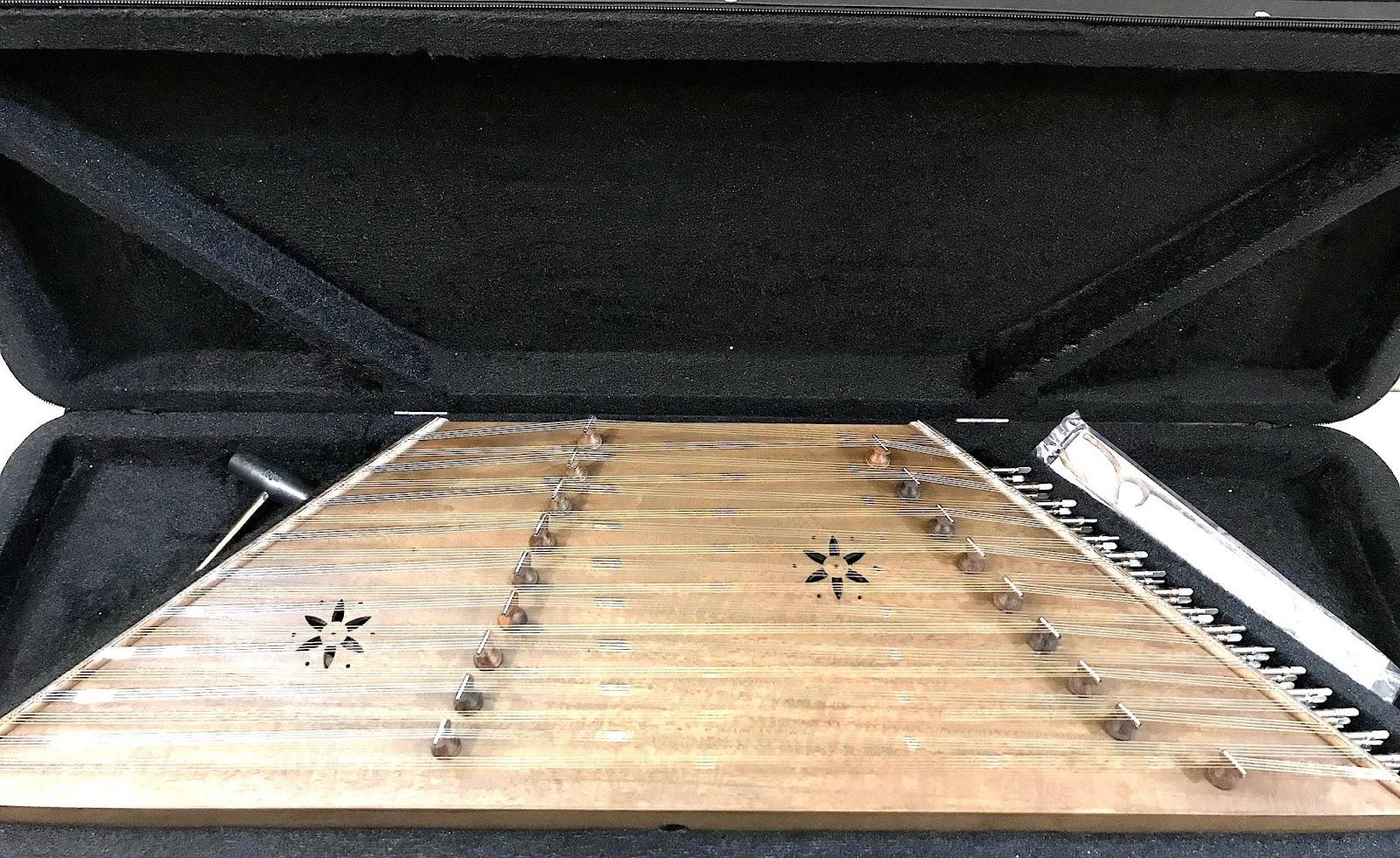 ساز سنتور رضوانی سه مهر با جعبه یونولیتی