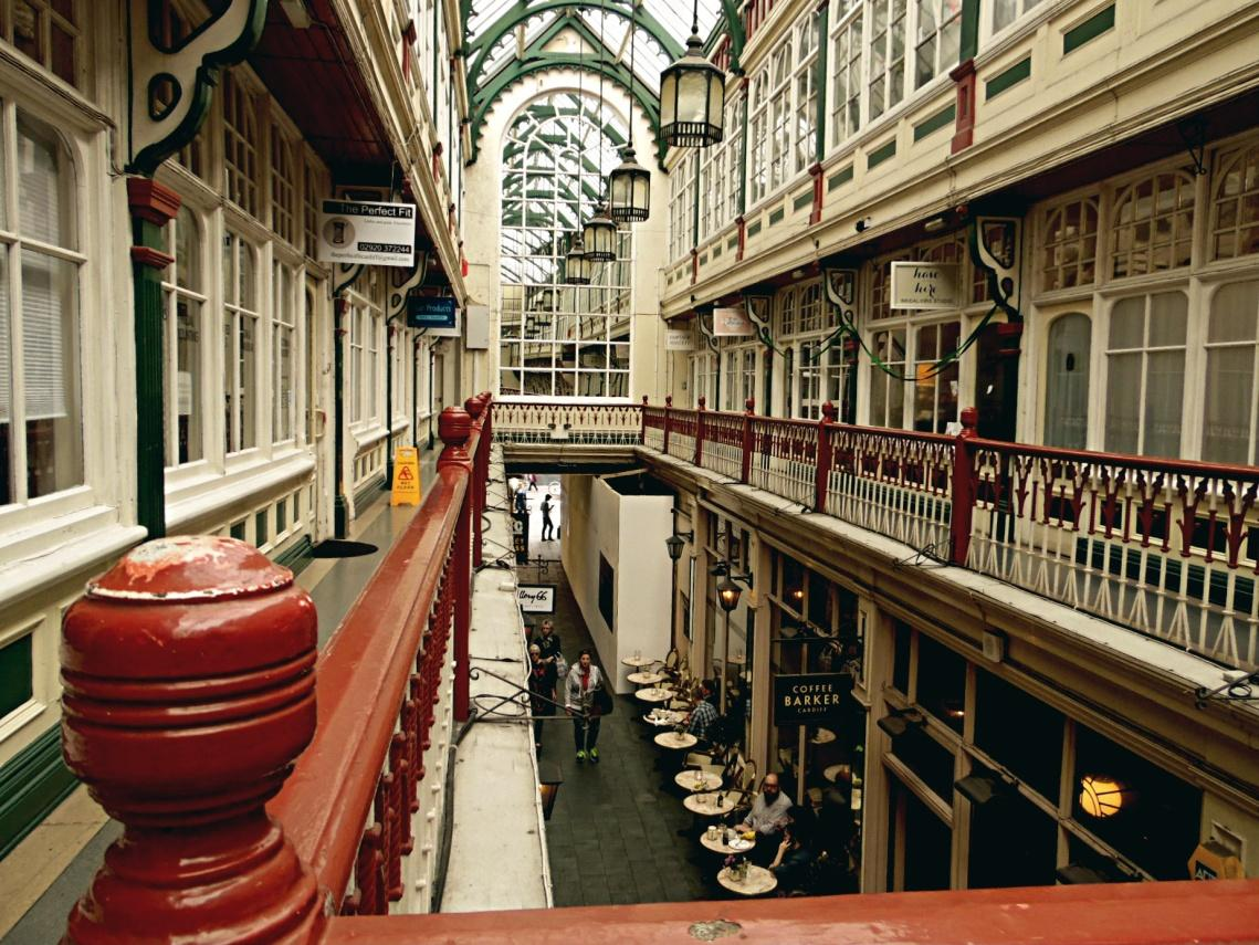 Inside Cardiff Shopping Arcades