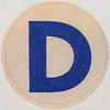 Vintage Sticker Letter D