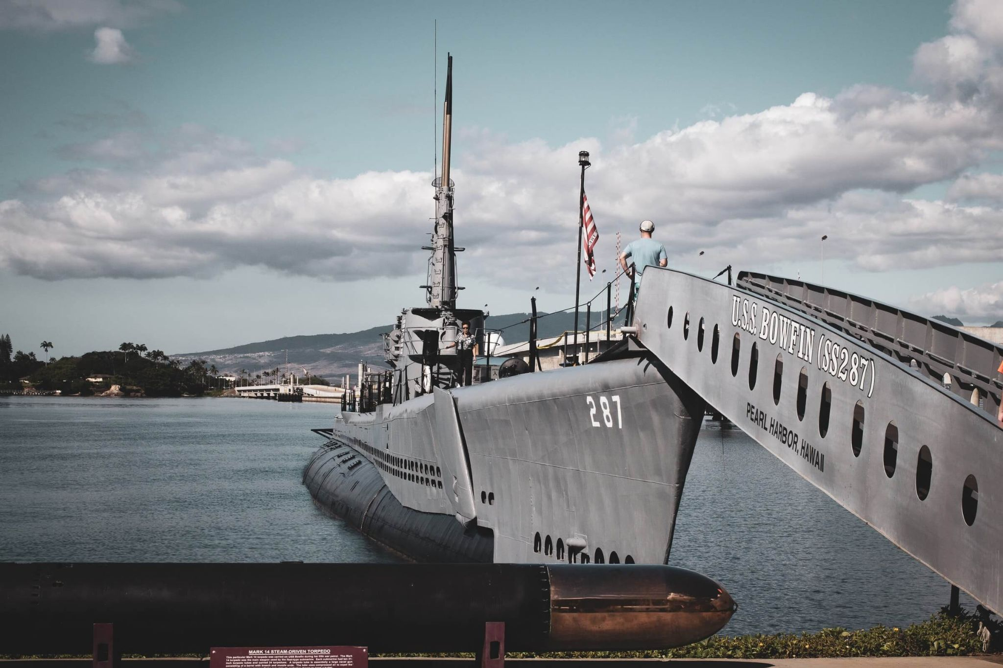 USS Bowfin Submarine Museum and Park, Pearl Harbor Historic Sites, most preserved submarine of World War 2