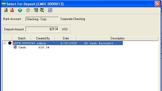 Select For Deposit